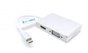 UST-C2DU4HV Type C to HDMI,DVI,VGA and USB 3.0 Adapter 2
