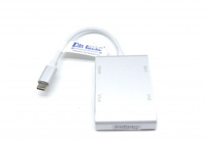 UST-C2DU4HV Type C to HDMI,DVI,VGA and USB 3.0 Adapter