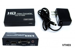 UST-VTH03 HD Video Converter VGA(F) To HDMI(F) with Power